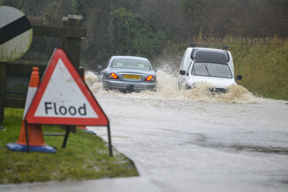 Whitwell Road, Whitwell flooded.
