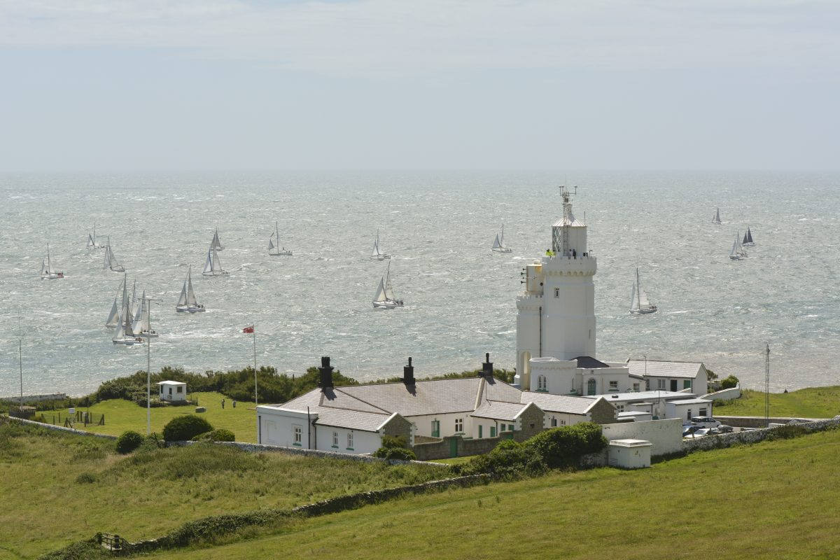 St Catherine's Lighthouse during Round the Island Yacht Race 2016