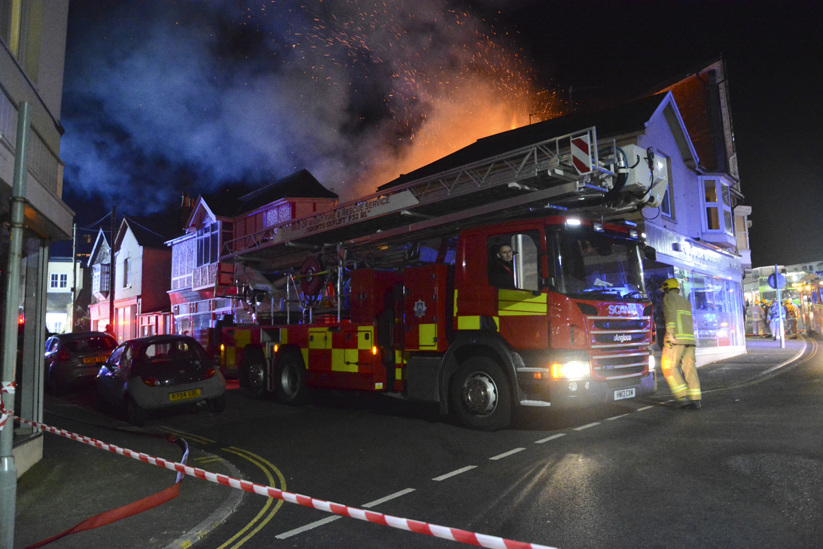 20160313 STP_5951 Palmerston Road Shanklin Building Fire
