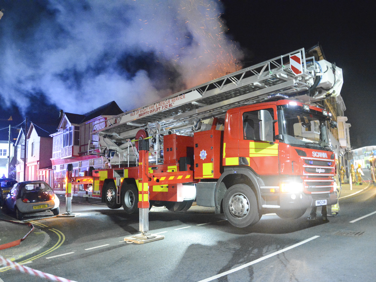 20160313 STP_5969 Palmerston Road Shanklin Building Fire